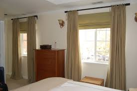 Small Bedrooms With King Size Bed Curtains And Drapes Brown Linen Window Curtain Light Painted