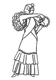 flamenco dancer coloring page funycoloring