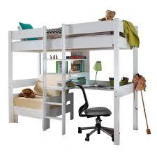 lit mezzanine combiné bureau lit mezzanine combiné 90x200 cm avec bureau fauteuil et 3 étagères