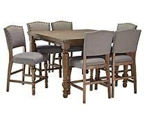Dining Room Table Counter Height Grayish Brown Tanshire Counter Height Dining Room Table View 1