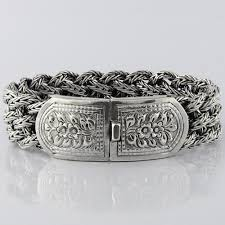 solid sterling silver mens bracelet images Victorian flowers men bracelet vy jewelry jpg