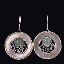 filigree earrings sterling silver filigree earrings dangle handmade w