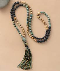necklace stone bead images 108 natural semi precious jasper lava stone beads mala necklace jpg