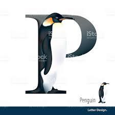 imagenes en ingles con la letra p ilustración vectorial de letra p es penguin letra del alfabeto