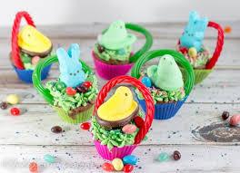 peeps easter basket easter cupcakes create mini easter basket cupcakes