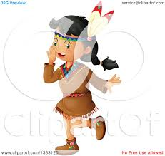 clipart of a happy native american dancing royalty free
