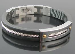 mens bracelet stainless steel rubber images Blackjack jewelry men 39 s stainless steel jewelry jpg