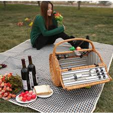 picnic basket set for 2 vintage wicker picnic basket set for 2 persons outdoor willow