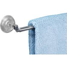 interdesign reo power lock suction towel bar for bathroom