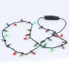 480pcs led bulb necklace glowing flash chain