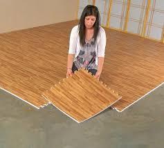 Interlocking Rubber Floor Tiles Faux Hardwood Floor Interlocking Foam Tiles 25 Pack