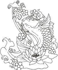 sakura blossom fish colouring sakura blossom fish