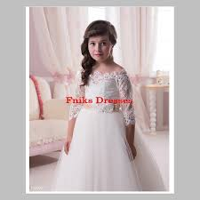 vintage communion dresses sleeve lace flower dresses for weddings new 2016 gown