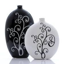 Decorative Home Furnishings Jingdezhen Ceramics Abstract Creative Black And White Vase Modern