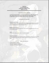 Resume Of Construction Worker Attractive Inspiration Ideas Construction Laborer Resume 5