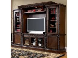 Cherry Bookcase With Glass Doors by Wall Units Glamorous Entertainment Wall Unit Entertainment Wall