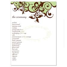 Diy Wedding Programs Templates Green U0026 Brown Wedding Program Templates Claire Moss Do It