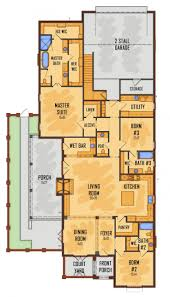 apartments house plans for narrow lots with front garage small