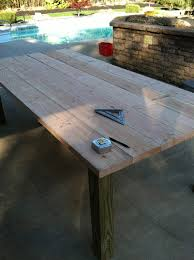 Building Outdoor Wooden Tables by Pine Tree Home Building My Own Outdoor Wood Farm Table