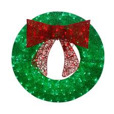Outdoor Christmas Decorations At Lowes by Shop Artificial Christmas Wreaths At Lowes Com