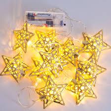 decoration warm string fairy light star string lights battery