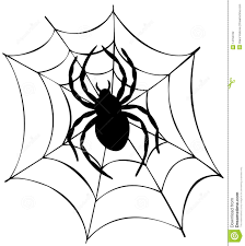 halloween spider clipart black and white spider web template virtren com