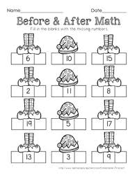 christmas math sequencing missing number freebie worksheet tpt