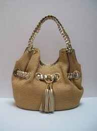 michael michael kors large charlton straw tote gold leather