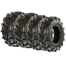 full set 4 sunf 2 27x10 12 u0026 2 27x12 12 mud u0026 at utv atv tires