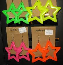 80s earrings neon earrings backward glances