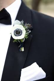 boutonnieres for wedding modern navy and gold wedding anemone boutonniere boutonnieres