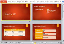 academic course overview powerpoint template