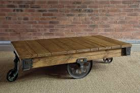 Industrial Cart Coffee Table Giant Reclaimed Mill Cart Coffee Table By Indigo Furniture