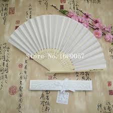 personalized folding fans for weddings 100pcs white wedding personalized silk fan wedding favor gift cloth