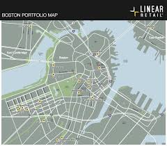 Boston Street Map by Portfolio Map Linear Retaillinear Retail Properties Burlington Ma