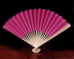 buy paper fans in bulk 9 fuchsia pink paper hand fans for weddings 10 pack on sale