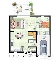 plan de maison 3 chambres salon plan de maison 3 chambres finest plan maison en l avec garage pour