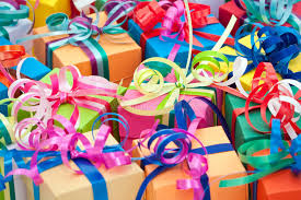 small presents with bows royalty free stock image image