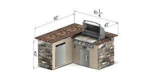 outdoor kitchen dimensions crafts home