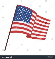 flag united states icon cartoon style stock vector 512691652