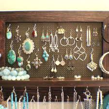 necklace organizer display images Wall mounted jewelry hanger stained wall mounted jewelry organizer jpg