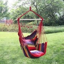 garden hanging cushioned seat tree hammock porch swing chair