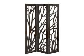 2 panel room divider panel dark brown tree floor screen living spaces