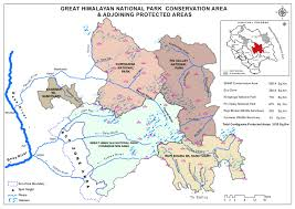 Himilayas Map Park Creation Great Himalayan National Park