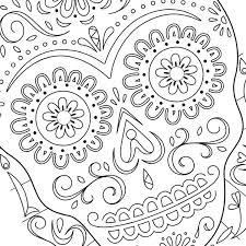 thanksgiving sugar skull coloring page coloring page