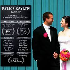 wedding program chalkboard crafted wedding program chalkboard sign by chalkboard