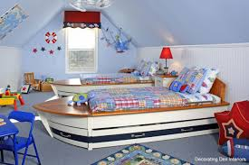 beautiful and elegant examples for boy and girl shared bedroom excellent shared boy bedroom decorating idea with calming soft blue walls and unique twin ship shaped