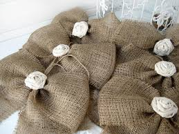 wedding bows for chairs burlap bow rustic wedding fabric set of 6 pew bows aisle
