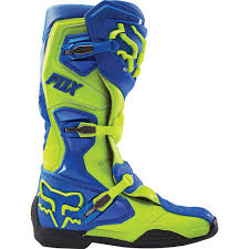 motocross boots 2016 fox comp 8 mx motocross boots blue yellow 2016 fox