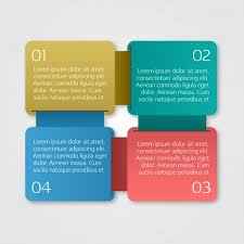 coloured templates coloured squares infographic template vector free download